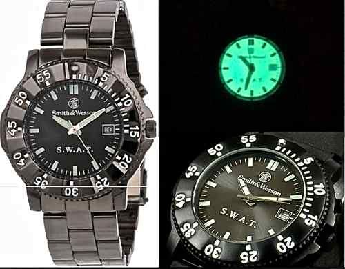 Smith Wesson SWAT Tactical Watch Metal Band Police Military Special Forces 024718145020 | eBay