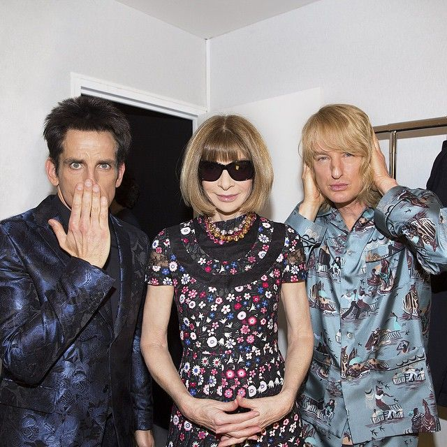 Vogue Magazine: Speak no evil. See no evil. Hear no evil. Derek #Zoolander and #Hansel are back! Photo by @kevintachman backstage at @maisonvalentino. #Zoolander2