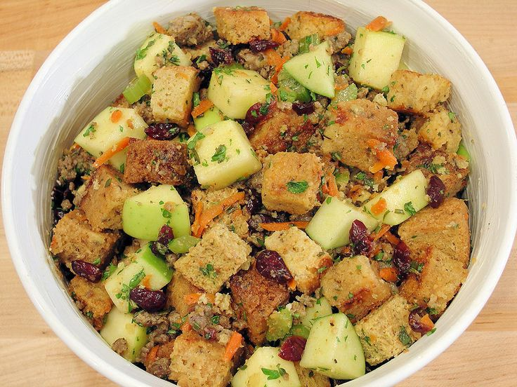 5-Star Sausage Apple & Cranberry Stuffing | How-To Step-by-Step Tutorial by WickedGoodKitchen.com #Thanksgiving #holiday #turkey #diy #recipe