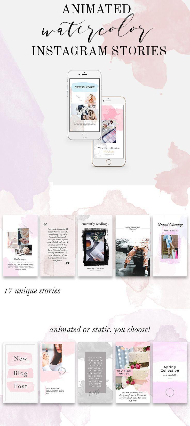 17 Instagram Story Templates Animated Stories Feminine Social Media Templates Instagram Video Facebook Video Instagram Branding Instagram Story Template Social Media Template Social Media Branding