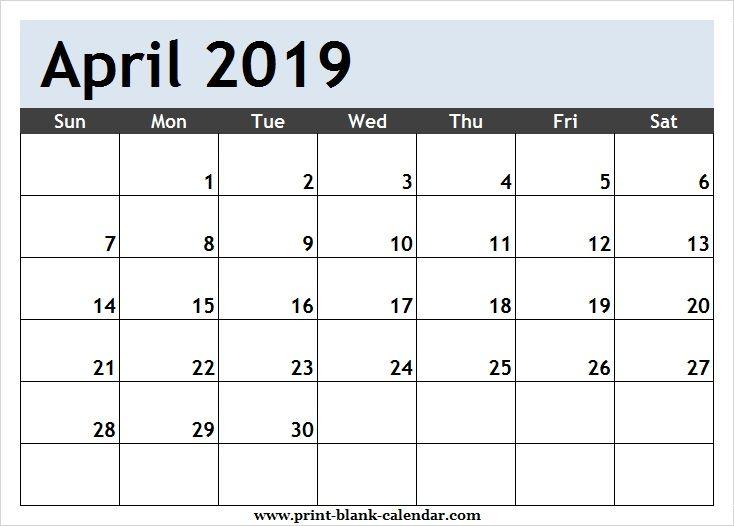 April 2019 Calendar Clipart Page Printblank Pinterest Calendar