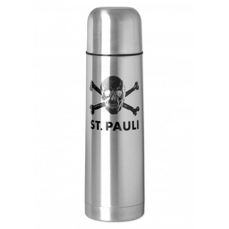 St. Pauli skull and crossbones thermal flask