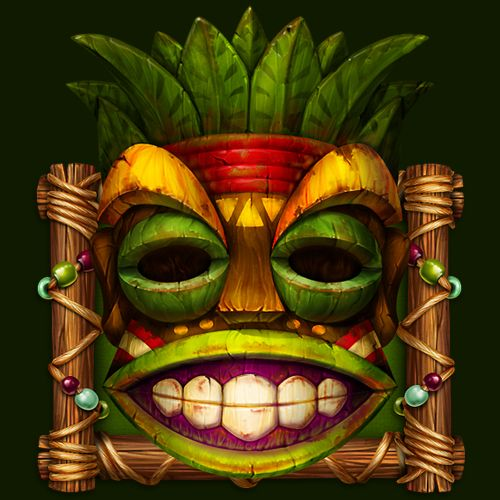 """Graphic design of symbol for the game slot-machine """"Polynesian totems TIKI""""  Full size you can see in attachment.  http://slotopaint.com/"""
