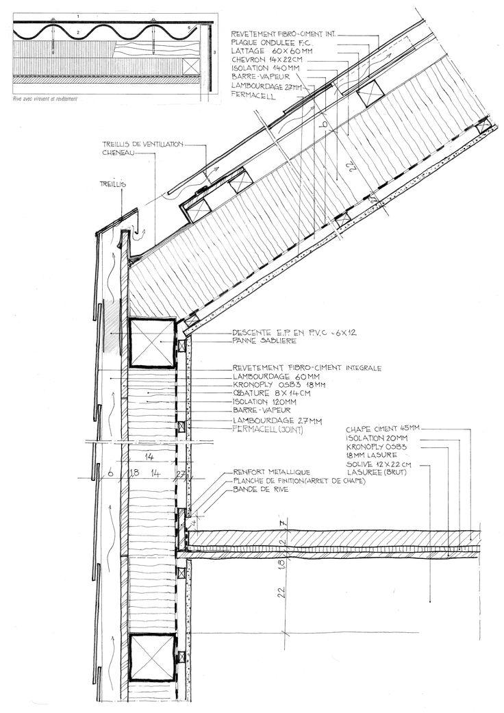 Acoperiș și fațadă din fibro-ciment pe structura de lemn.