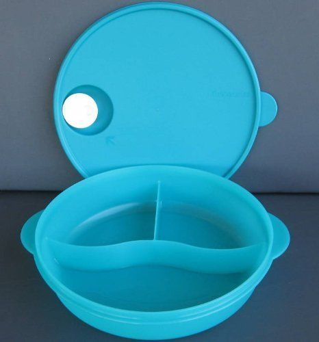 Sectioned Tupperware: Tupperware Crystalwave Divided Dish For Microwave By