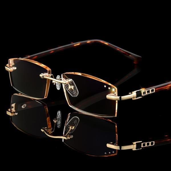 Luxury Business Reading Glasses Men S Rimless Gold Hyperopia Male Reader Eyeglasses 3039 Discounts Best Eyeglass Frames For Men Mens Glasses Mens Eye Glasses