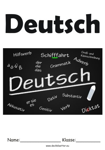 14 best Deckblatt images on Pinterest | Class room, Deutsch and