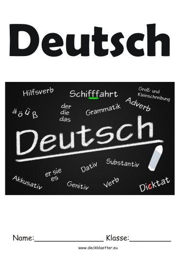 Deckblatt Deutsch