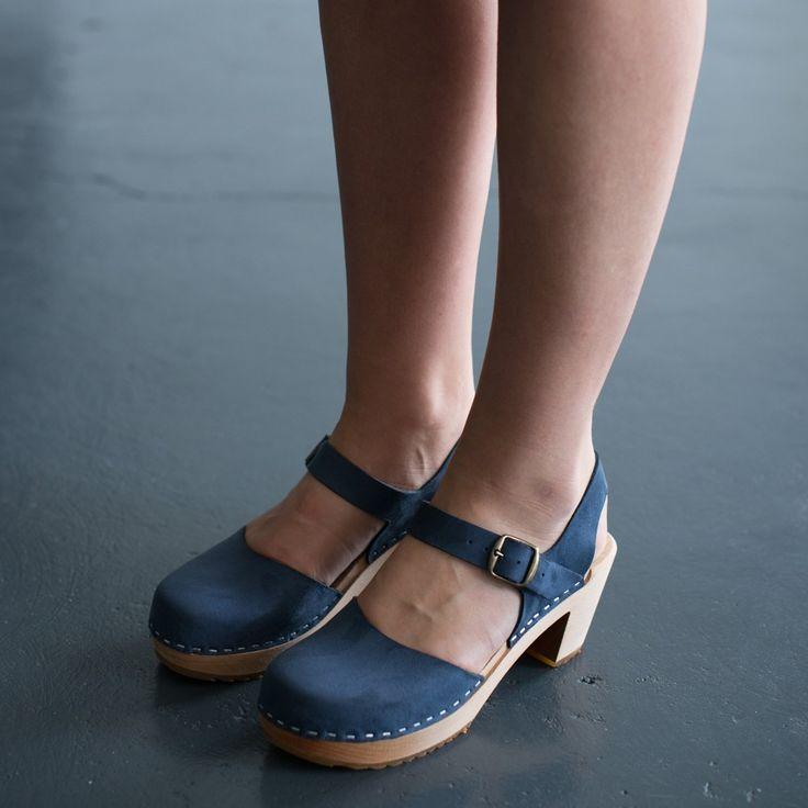 978 funkis clog high camilla navy suede, clog, clogs, Sweden, swedish, design, designer, fashion, shoes, shoe, wood, wooden, fashion, Scandinavian, funkis, funkis australia