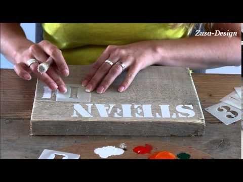 Zusa design maak zelf een tekstbord youtube for Transfer papier action