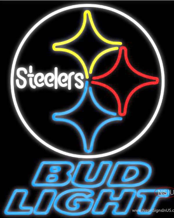 Bud Light Neon Pittsburgh Steelers NFL Real Neon Glass Tube Neon Sign,Affordable and durable,Made in USA,if you want to get it ,please click the visit button or go to my website,you can get everything neon from us. based in CA USA, free shipping and 1 year warranty , 24/7 service