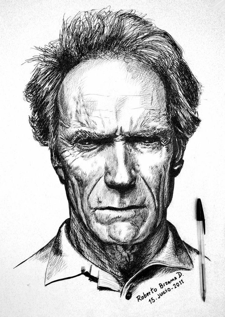 Clint Eastwood... by RobertoBizama on deviantART