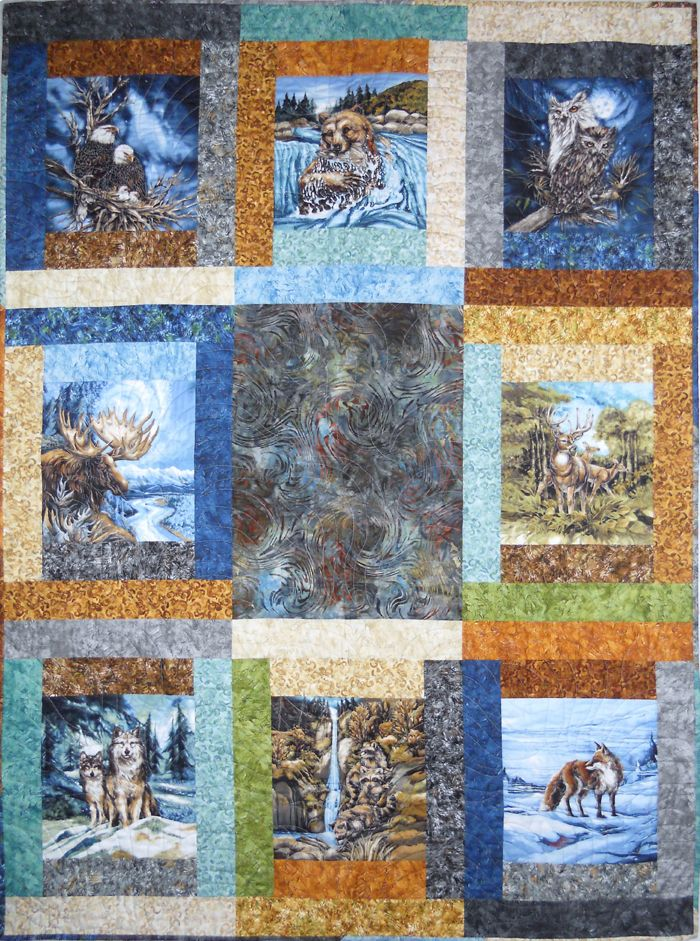 275 Best Images About Eagle Wolves Deer And Nature Quilts