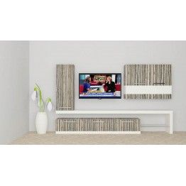 Uniquely designed TV Unit made up of plywood with laminate finish. The cleverly crafted unit with 2 cabinets and 3 lower drawers to fit in media related essentials in an organized manner. The striped pattern gives an alluring look to the living room. Any modernized house will need a perfect living room furnitures with captivating look like this to enhance the beauty of the space.