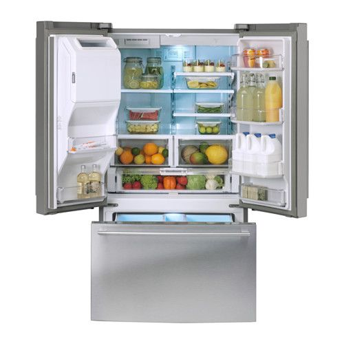 Ikea French Doors: NUTID French Door Refrigerator, Stainless Steel