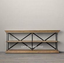 Французский деревни , чтобы сделать старый деревянный шкаф для промышленности стиле лофт развлекательные центры буфет столик(China (Mainland))