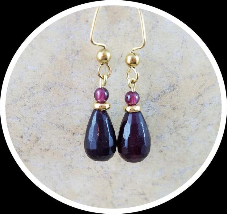 Garnet Drop Earrings by Cindy A.
