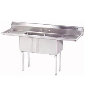 Advance Tabco FE-2-1812-18RL Two Compartment Stainless Steel Commercial Sink with Two $489Drainboards - 72