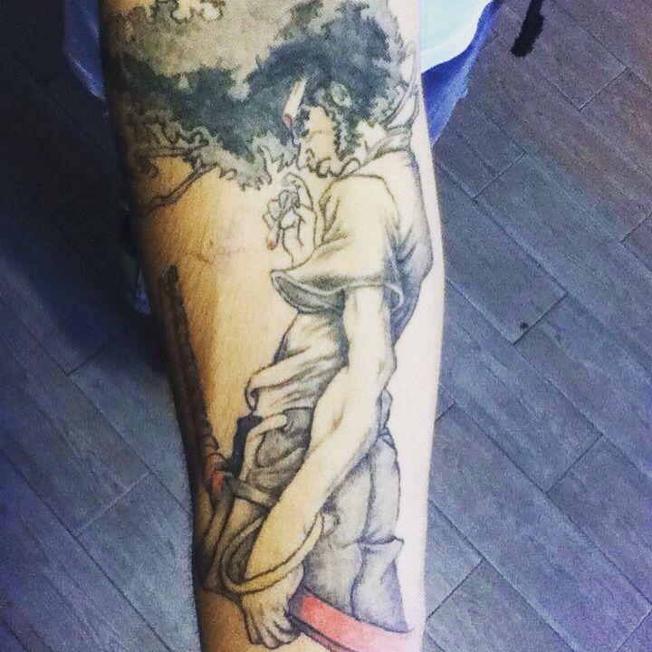 Tatto afro samuray