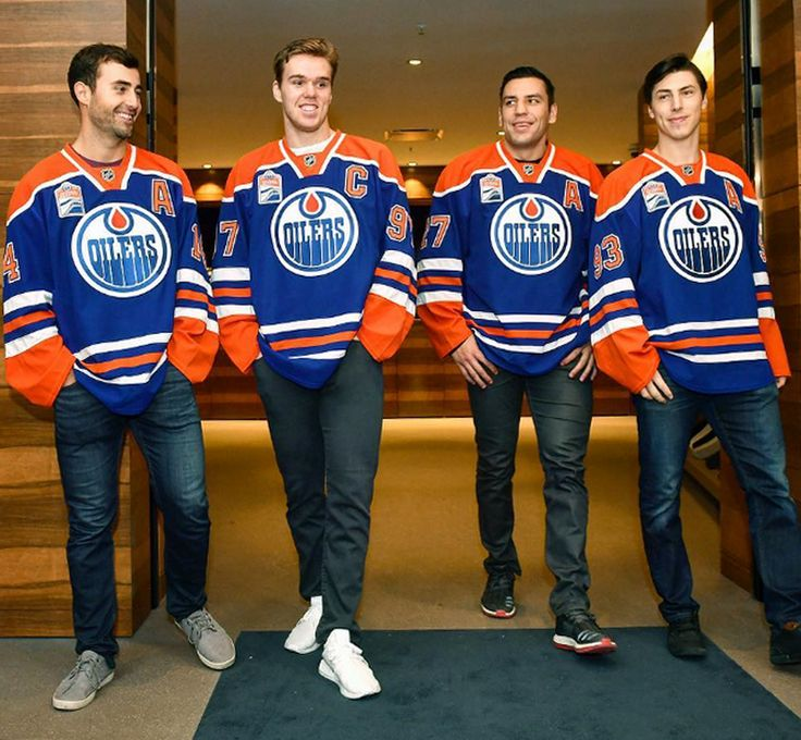 Fearsome foursome............Jordan Eberle,  Connor McDavid, Milan Lucic, and Ryan Nugent-Hopkins.