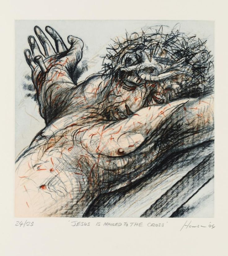 Peter Howson -  The Stations of the Cross XII. Jesus is Nailed to the Cross, 2004