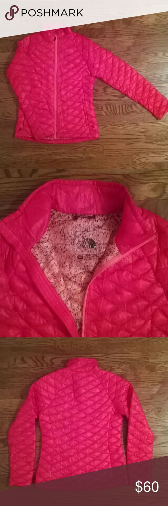 NWOT North Face Thermoball Jacket The color is poorly translated here - the jacket is a bright reddish-orange with a speckled lining.  I simply own too many jackets and am a recovering shopaholic!  No trades Reasonable offers considered North Face Jackets & Coats