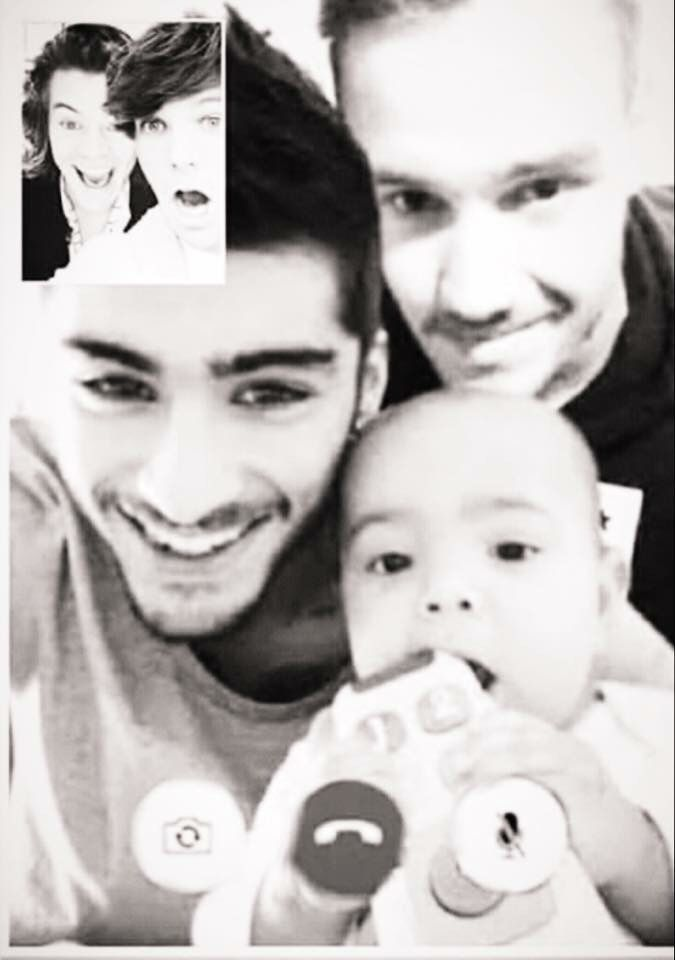Imagine Liam and Zayn hanging out and they face time Louis and Harry with yours and Liam's daughter
