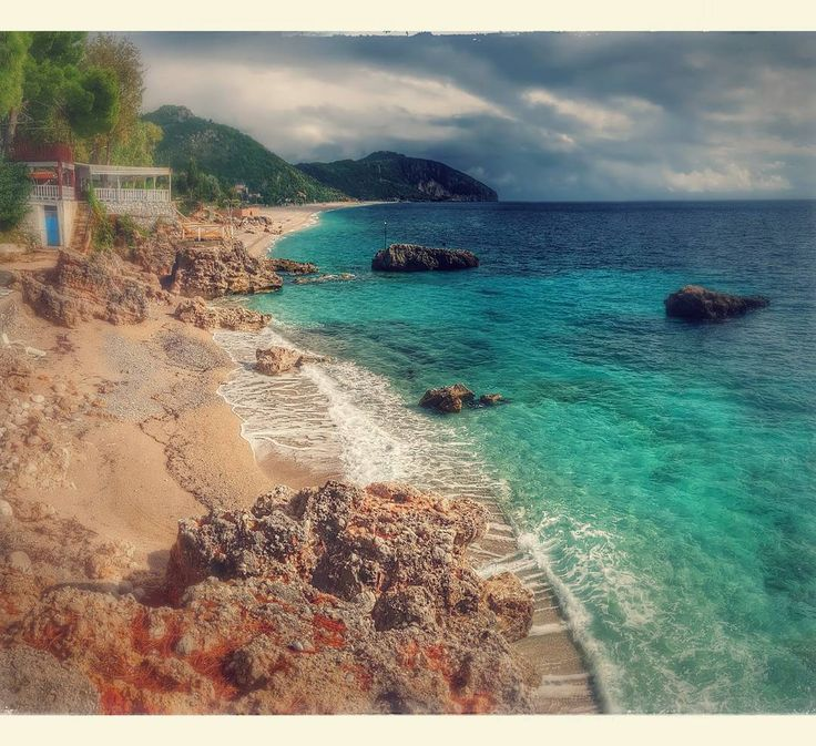 Amazed by the crystal clear waters on the Albanian shoreline