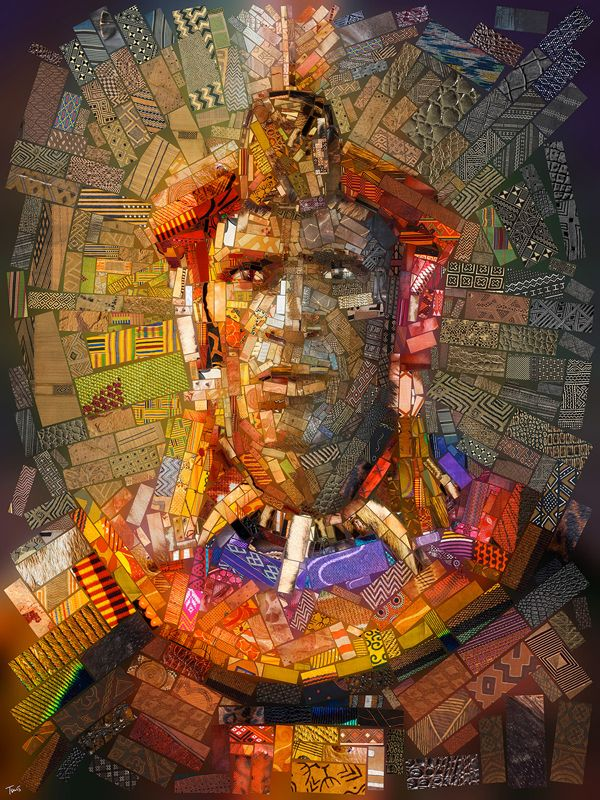 African bricks for Sasi's, digital illustration by Charis Tsevis - ego-alterego.com