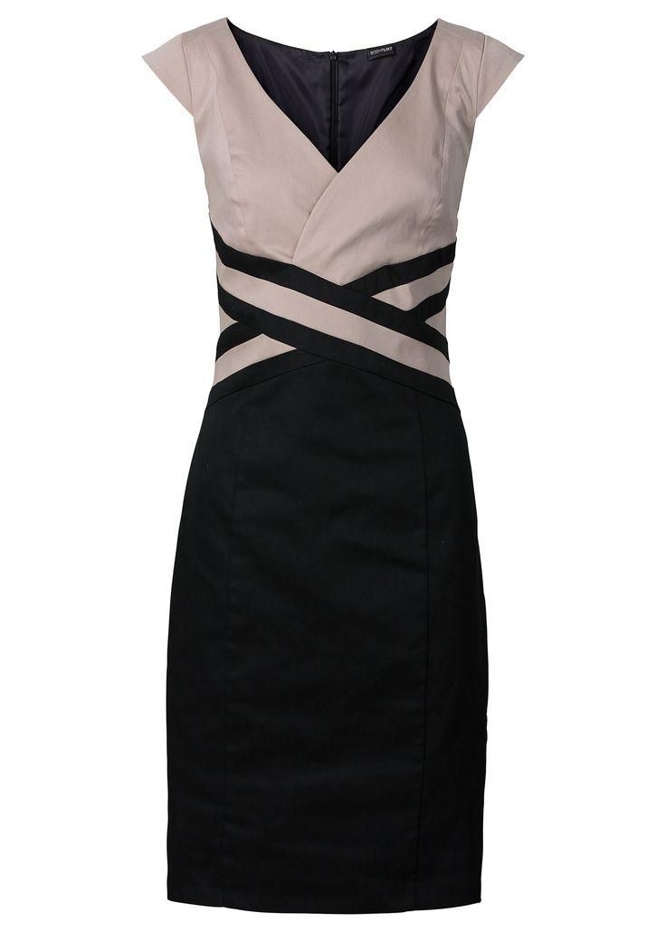 Vestido tubinho preto/cinza escuro encomendar agora na loja on-line bonprix.de  R$ 149,00 a partir de Ele é um charme! Vestido tubinho sem mangas. Bicolor e ...