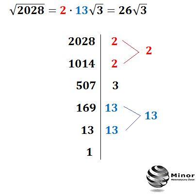 Jak najłatwiej wyłączyć czynnik przed znak pierwiastka?  Z małymi liczbami pod pierwiastkiem nie ma problemu, natomiast jeśli pod pierwiastkiem jest duża liczba i stopień pierwiastka jest wyższy niż trzeci, to wtedy możemy zastosować podaną metodę.