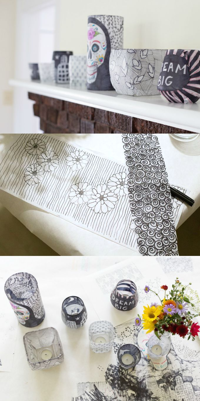 How to Doodle Tissue Paper Lanterns