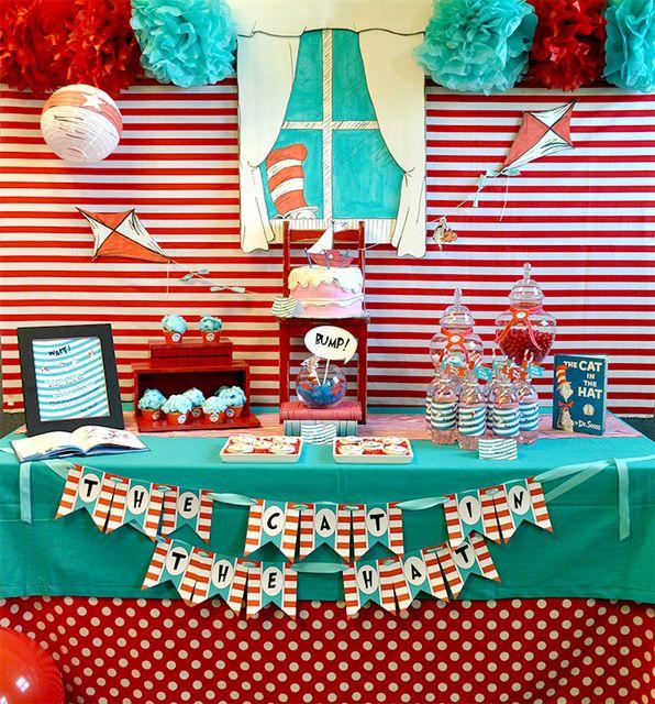 Can you believe this Dr. Seuss dessert table... Incredible! #drseuss #desserttable #partyHats Parties, Birthday Parties, Seuss Parties, 1St Birthday, Parties Ideas, Dr. Seuss, Party Ideas, Dr. Suess, Desserts Tables
