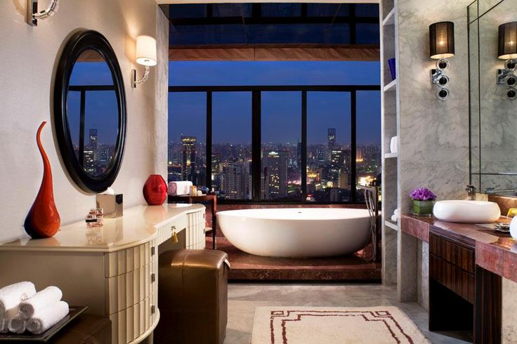 Portman Ritz-Carlton Shanghai: Hotels Bathroom, The View, Ritz Carlton Shanghai, Ritzcarlton, Amazing View, The Cities, Bathroom Decor, Cities Lights, Cities View