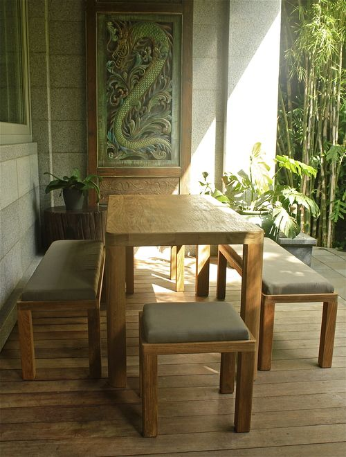 Palmer Teak breakfast table by Kayu Naga