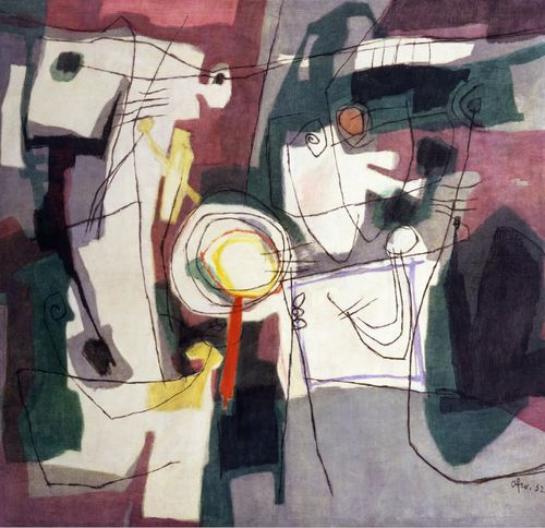 lawrenceleemagnuson: Afro Basaldella (Italy 1912 -1976)Villa Fleurent (1952)oil on canvas 146,9 x 175 cm