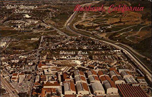 Aerial View of Walt Disneys and Warner Bros. Studios Burbank California Original Vintage Postcard @ niftywarehouse.com #NiftyWarehouse #Geek #Fun #Entertainment #Products
