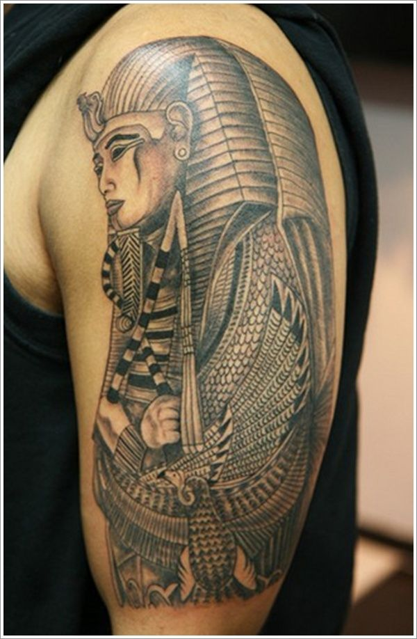 15799240b7224 13 Awesome Egyptian Tattoos Ideas | African Tattoo Ideas | Pharaoh tattoo, Egyptian  tattoo, Egypt tattoo