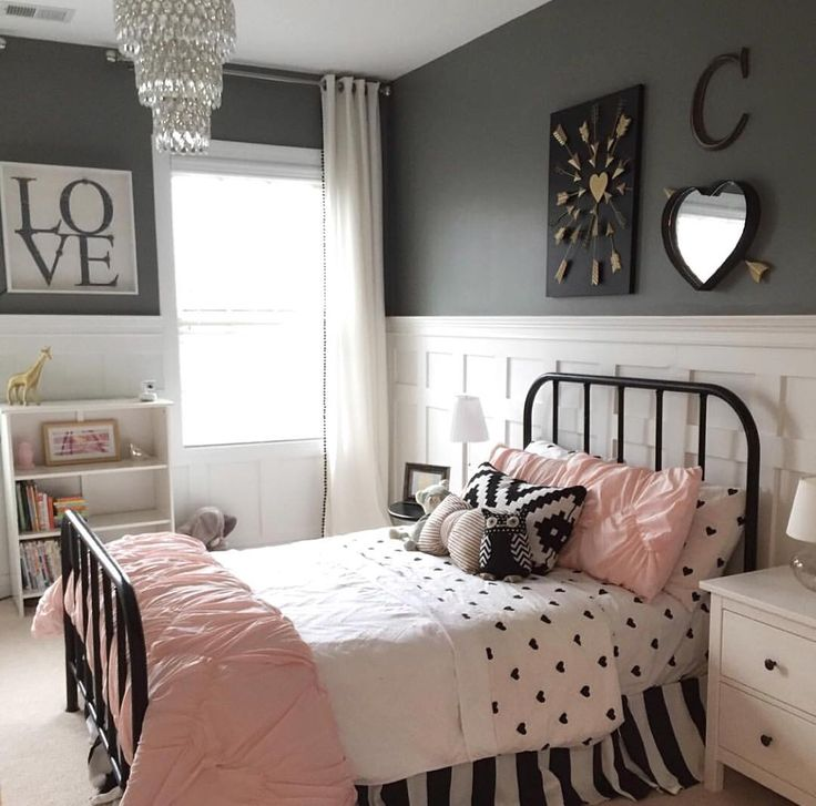 """""""Stop all the cuteness @lynseyjo!  She used our board and batten tutorial in her girl's room and it's perfection! ☝️ #shanty2chic #wehavethebestreaders"""""""