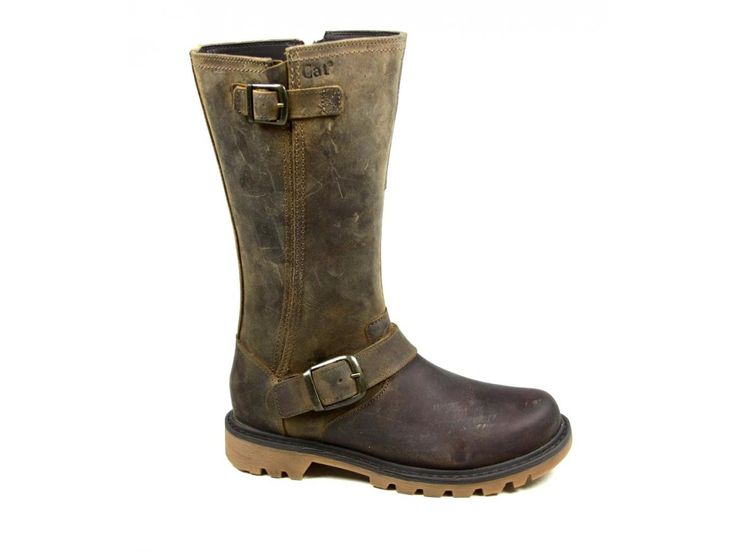 WOMENS-CAT-CATERPILLAR-EVERYDAY-BIKER-LEATHER-MID-CALF-BOOTS-SIZE-3-8-NEW