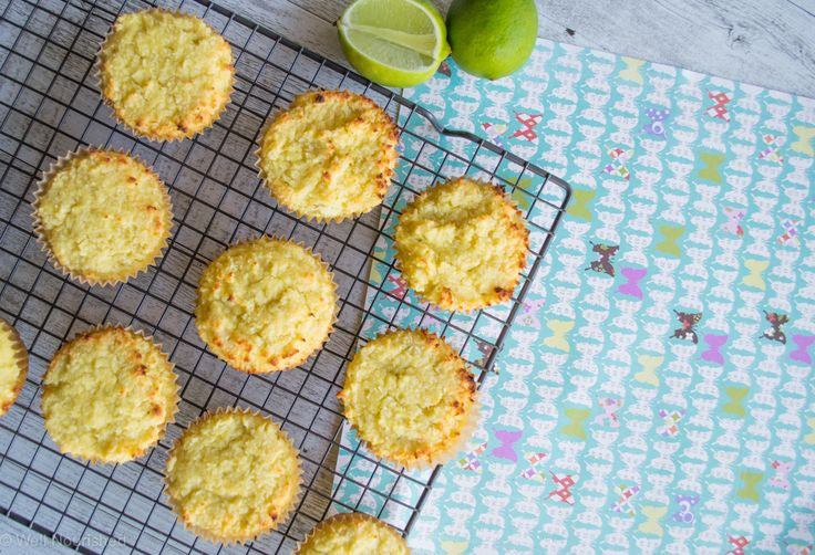 Coco loco Cake made into cupcakes - This grain-, gluten- and dairy-free cake is so quick and easy to make and the result is a lovely, moist loaf that is perfect for school lunches. I think the flavours of citrus and coconut are a match made in heaven.