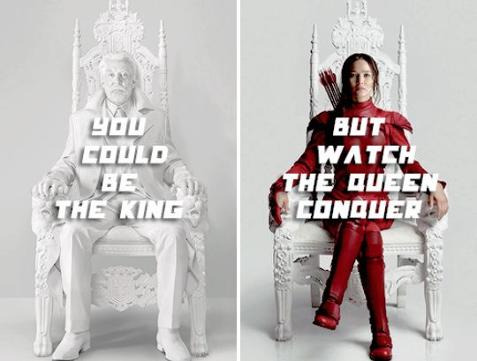 you could be the king but watch the queen conquer thg. Black Bedroom Furniture Sets. Home Design Ideas