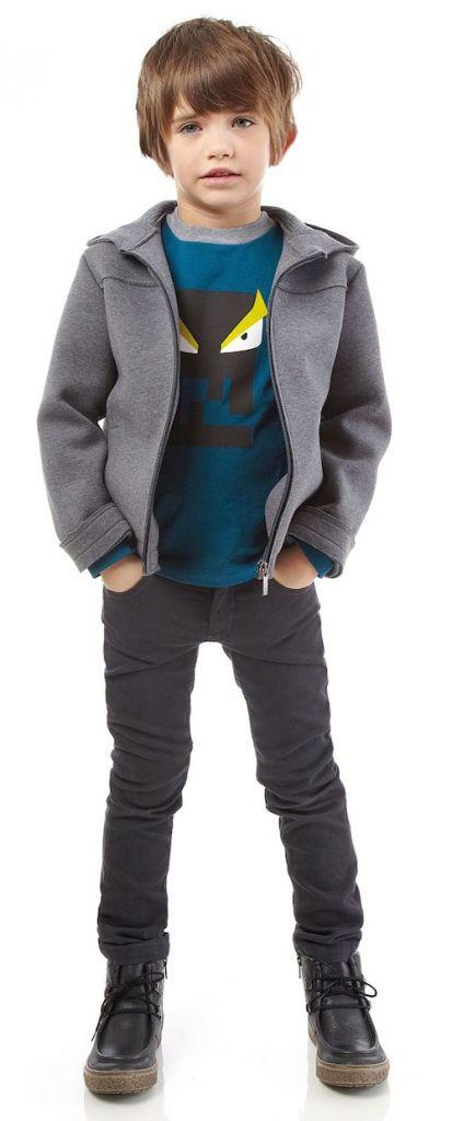 Fendi kids ropa elegante para niños y niñas