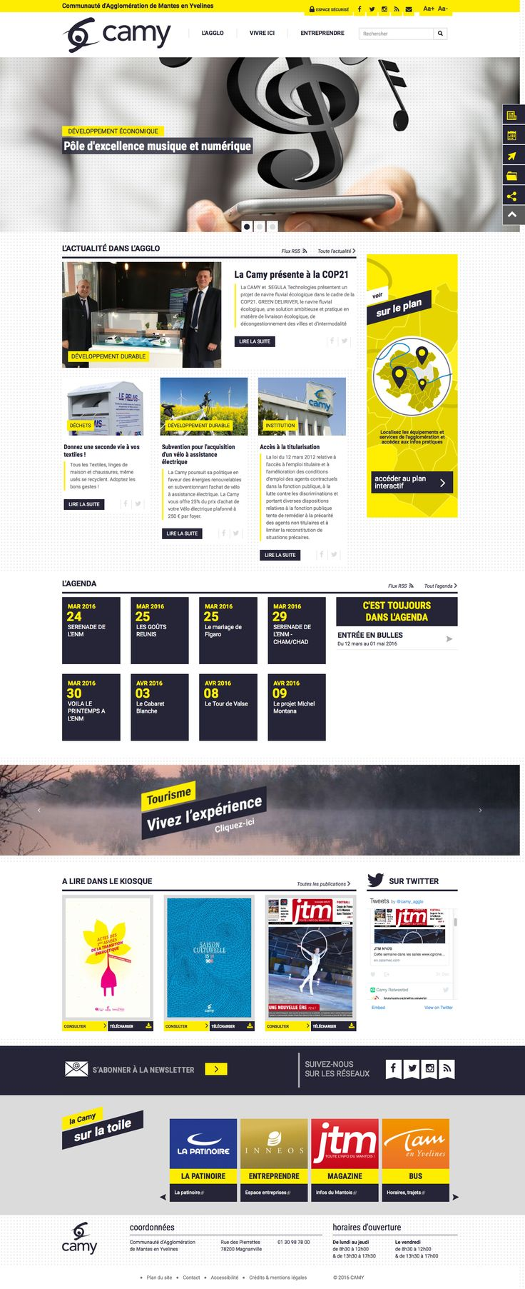 Le nouveau site web de la Communauté d'Agglomération de Mantes en Yvelines.  >