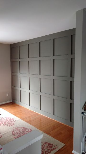 DIY Paneled Wall for under $200