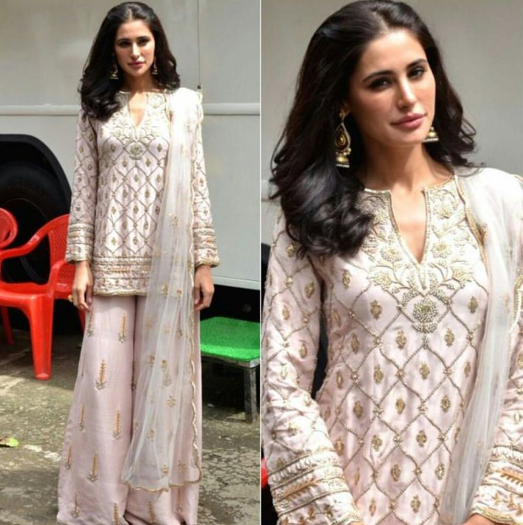 Nargis Fakhri in a traditional gharara by Payal Singhal