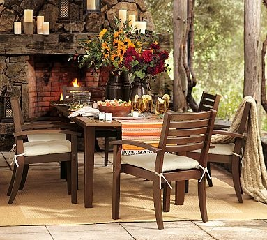 Would love to have an outdoor area like this.: Stones Fireplaces, Outdoor Living, Outdoor Rooms, Outdoor Patio, Outdoor Fireplaces, Outdoor Gardens, Outdoor Spaces, Pottery Barns, Dining Tables