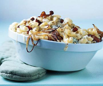 ... Macaroni and Cheese - uses mozzarella and blue cheese, bacon and sweet