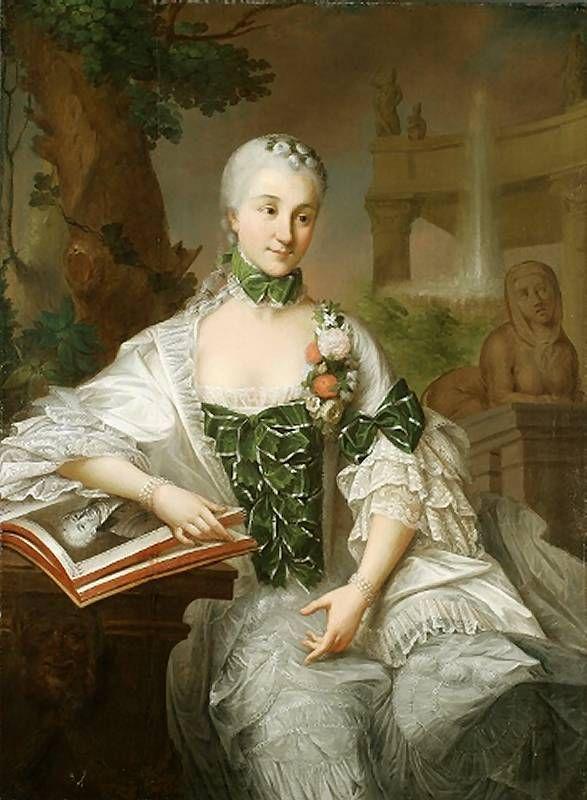 ca. 1757 Izabella Poniatowska Branicka by Marcello Bacciarelli (Muzeum Narodowe we Wrocławiu - Wrocławia Poland)