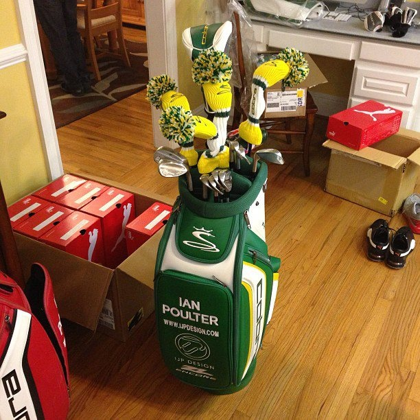 Ian Poulter golf bag for 2013 US Masters
